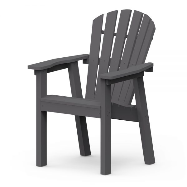 Shellback dining chair with a Charcoal frame finish