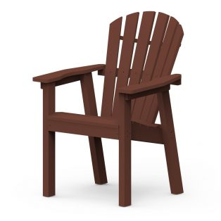Shellback dining chair with a Chestnut finish