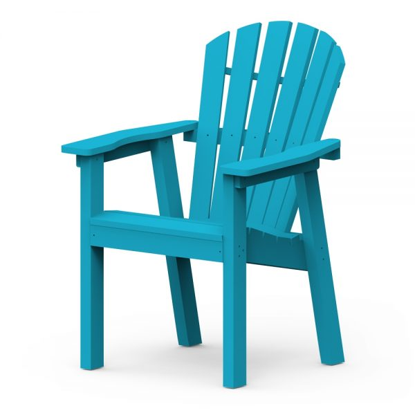 Adirondack Shellback dining chair with a Pool finish