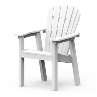 Shellback dining chair with a White frame finish