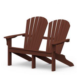 Adirondack Shellback love seat with a Chestnut finish