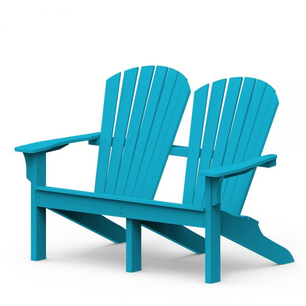 Shellback loveseat with a Pool finish