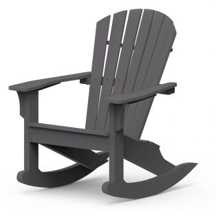 Adirondack Shellback rocking chair with a Charcoal finish