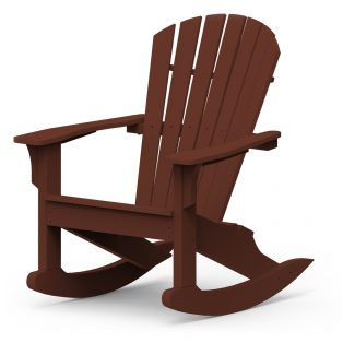 Adirondack Shellback rocking chair with a Chestnut finish