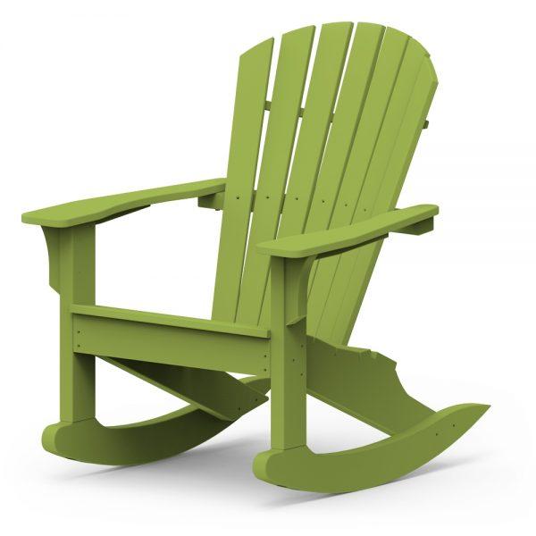Shellback rocking chair with a Leaf finish
