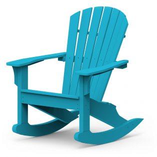Adirondack Shellback rocking chair with a Pool finish