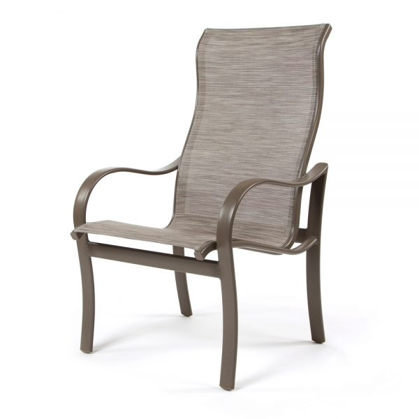 Shoreline sling high back dining chair