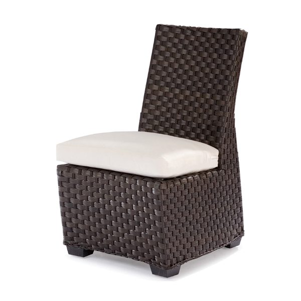 Leeward wicker dining side chair with cushion