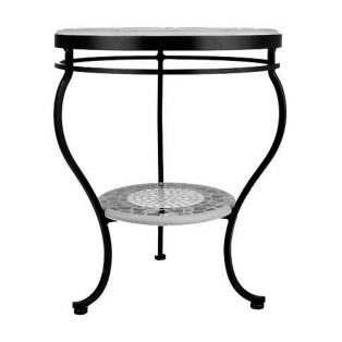 KNF - Neille Olson single or double tier round side table base