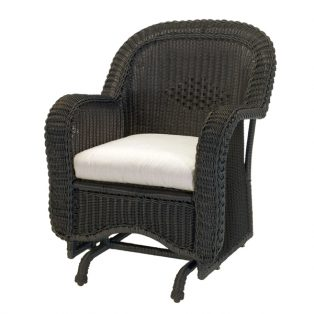 Classic Wicker single glider patio chair
