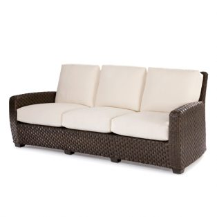 Leeward wicker sofa with cushions