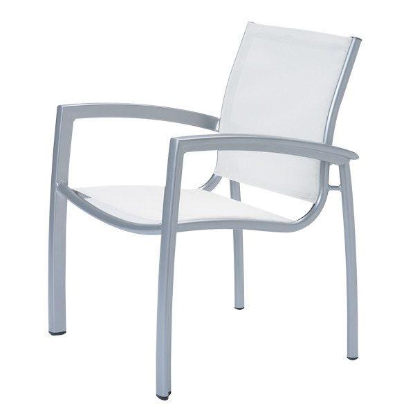 Tropitone South Beach aluminum sling dining chair