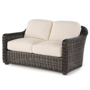 South Hampton outdoor wicker love seat