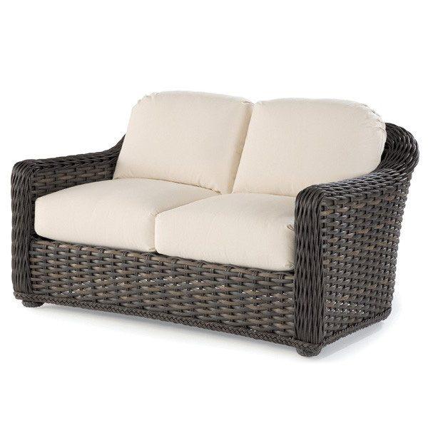South Hampton outdoor wicker love seat