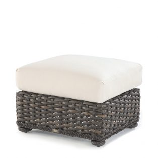South Hampton wicker ottoman