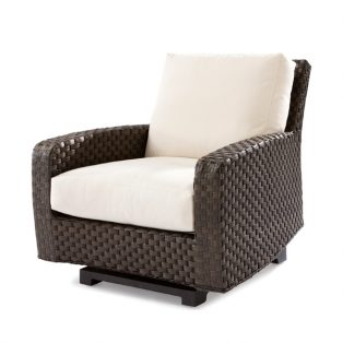 Leeward wicker spring lounge chair with cushions