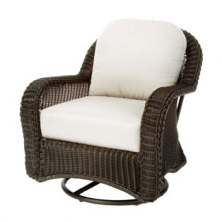 Classic Wicker swivel glider lounge chair