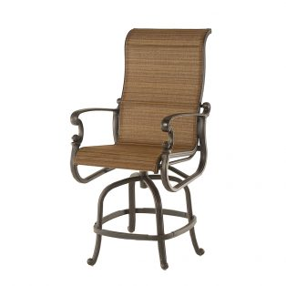 St. Augustine sling swivel counter height barstool