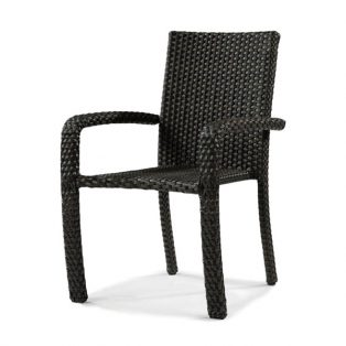 Leeward wicker stacking dining chair