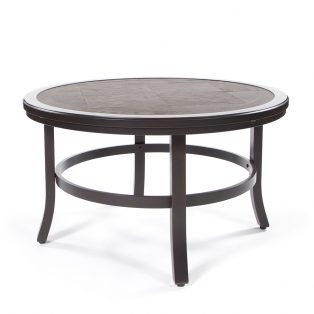 "Sunvilla 38"" round faux wood coffee table"