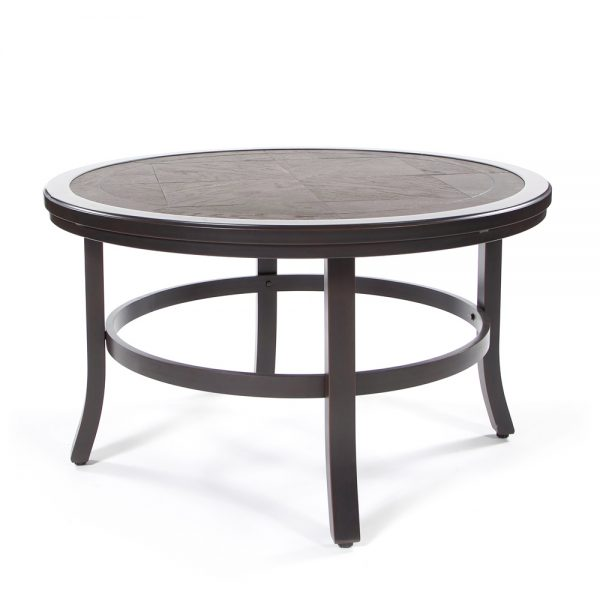 """Sunvilla 38"""" round faux wood coffee table"""