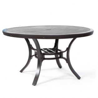 "Sunvilla 54"" round faux wood dining table"