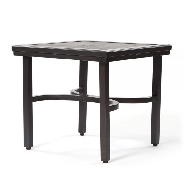 "Sunvilla 24"" square faux wood end table"