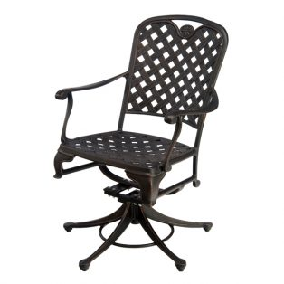 Provance cast aluminum swivel dining chair