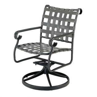 Ramsgate strap swivel rocker dining chair