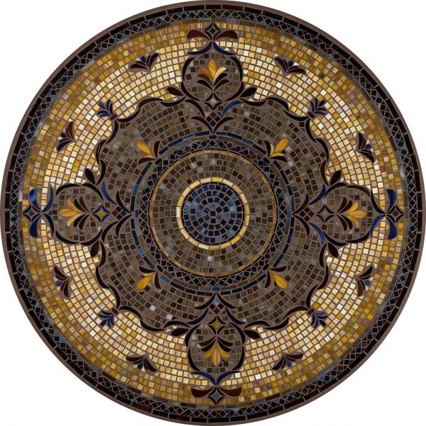 "42"" round Almirante outdoor mosaic table top - Available in multiple sizes and shapes"