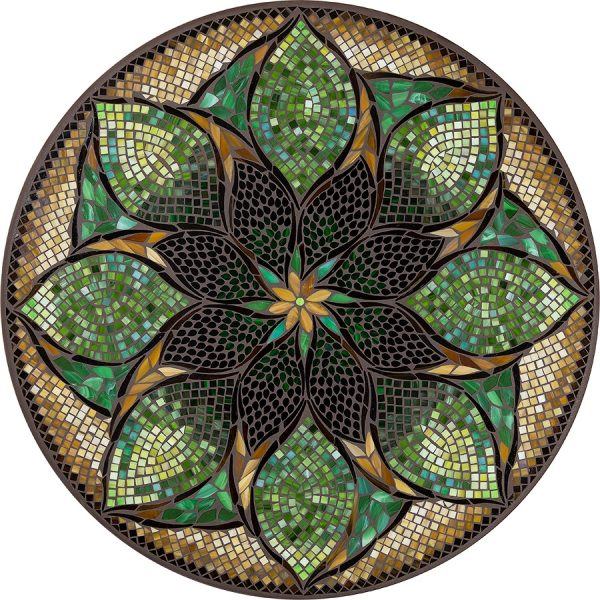 "Arenal outdoor 42"" round mosaic table top - Available in multiple sizes and shapes"