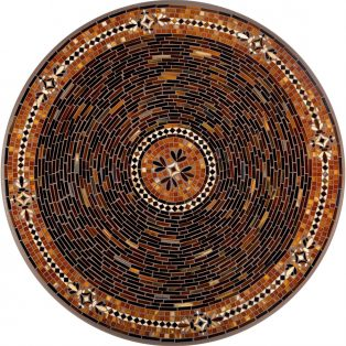 "Mahogany Atlas 42"" round outdoor mosaic table top - Available in multiple sizes and shapes"