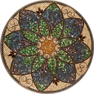 "Monaco 42"" round outdoor mosaic table top - Available in multiple sizes and shapes"