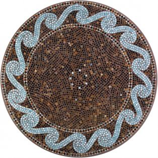 "Oasis 42"" round outdoor mosaic table top - Available in multiple sizes and shapes"