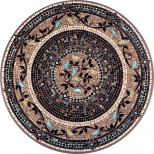 "Provence 42"" round outdoor mosaic table top - Available in multiple sizes and shapes"