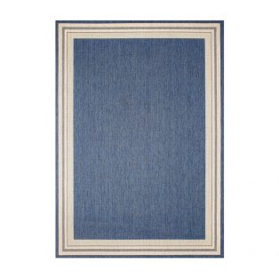 "Garden Cottage Blueberry 5'3"" x 7'4"" outdoor area rug from Treasure Garden"