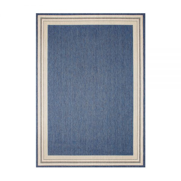 "Garden Cottage Blueberry 5'3"" x 7'4"" outdoor area rug from Treasure Garden"