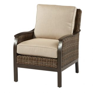 Trenton woven lounge chair from Agio