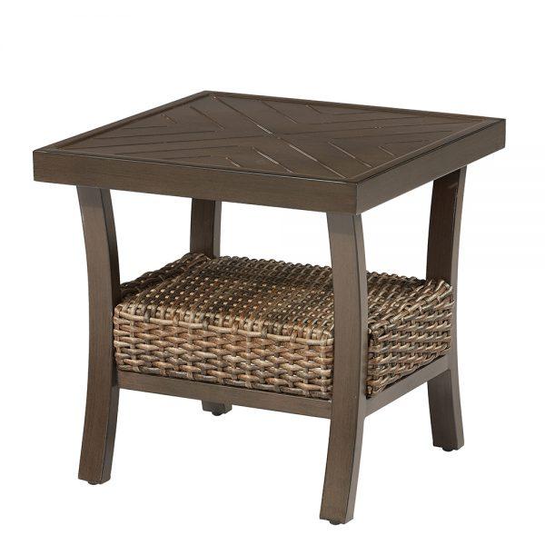 """Trenton 22"""" square slat top side table"""