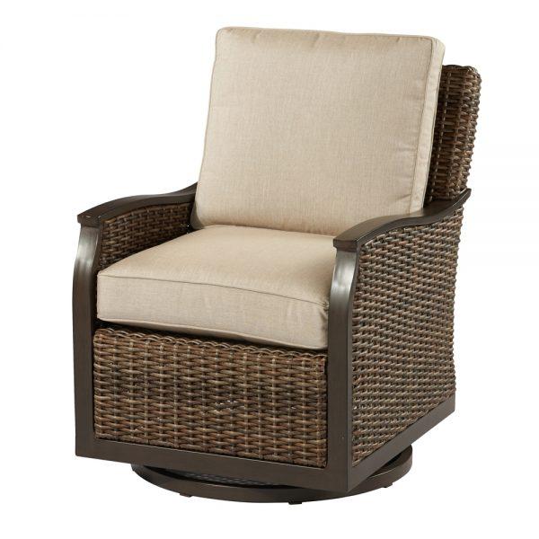 Trenton woven swivel glider lounge chair