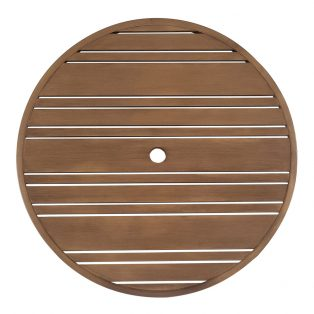 "36"" Round Tri-Slat extruded top"