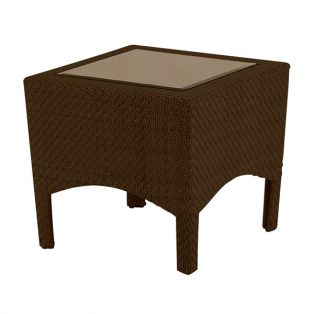 "Trinidad 23"" square wicker end table"