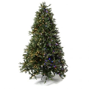 7.5' Trinity one plug artificial Christmas tree with color changing lights