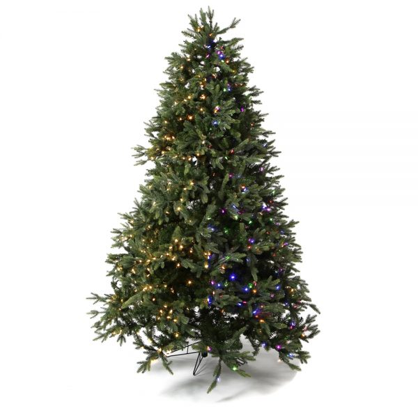 9' Trinity One Plug Artificial Christmas Tree - Color Changing Lights