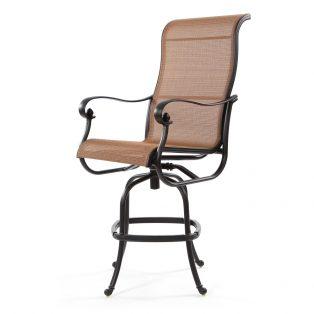 Valbonne sling swivel bar stool