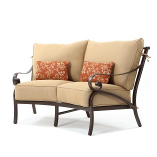 Veracruz curved loveseat