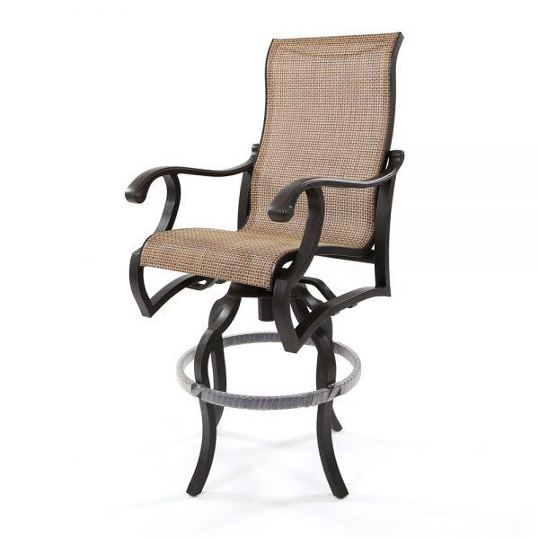 Volare sling swivel bar stool