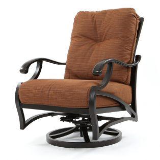 Volare spring swivel club chair