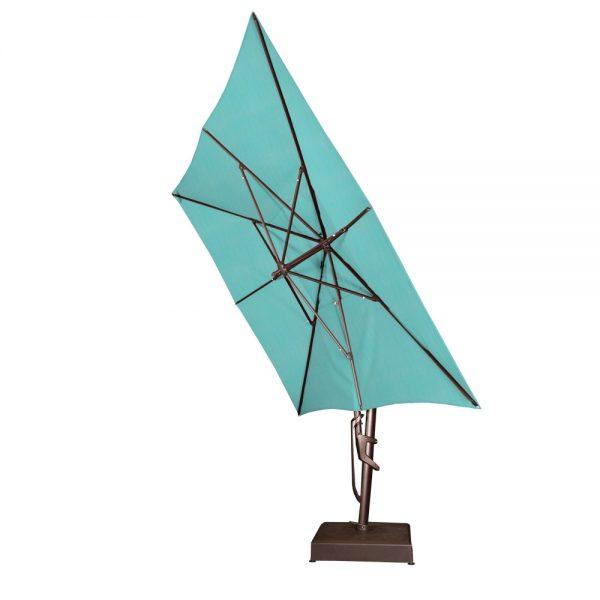 Treasure Garden 10' x 13' rectangle cantilever umbrella tilted all the way back
