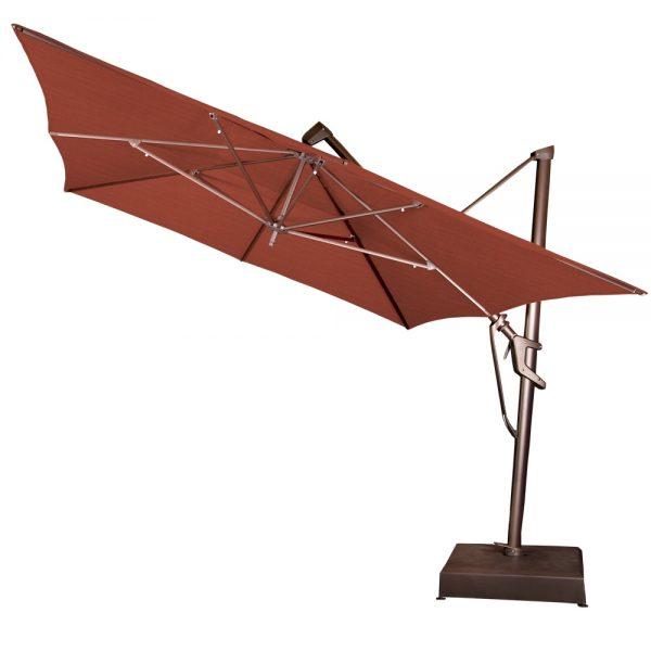 Treasure Garden 10' x 13' rectangle cantilever umbrella tilted